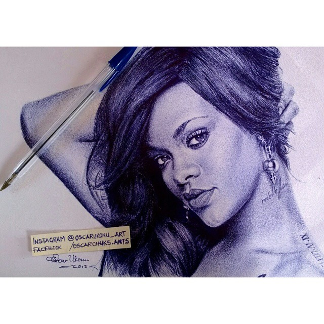 oscar sketches rihanna