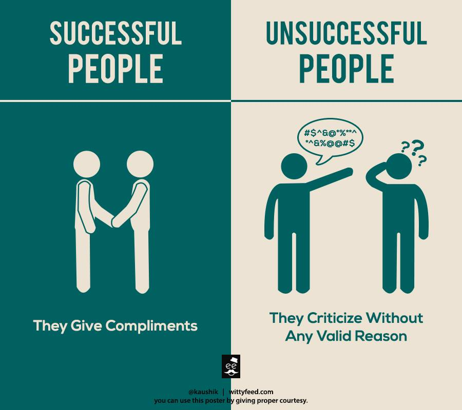 Successful people give comliments