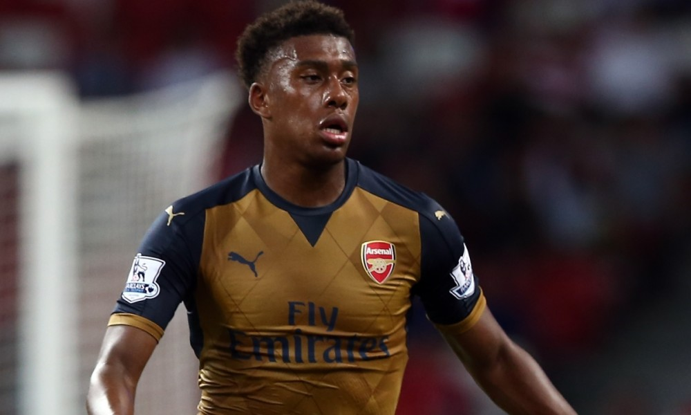 Alex Iwobi plays as a winger and a striker for Arsenal