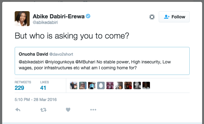 Abike Dabiri, Trending on twitter