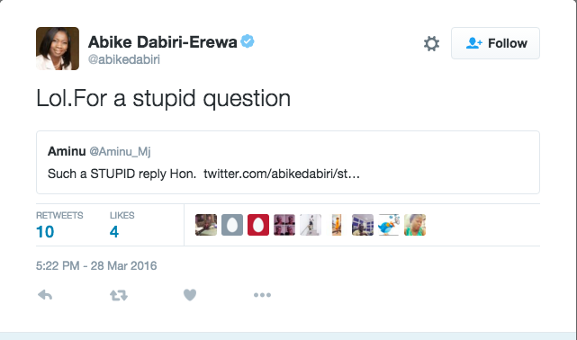 Abike Dabiri barking 2