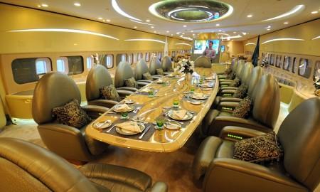 inside a luxurios jet