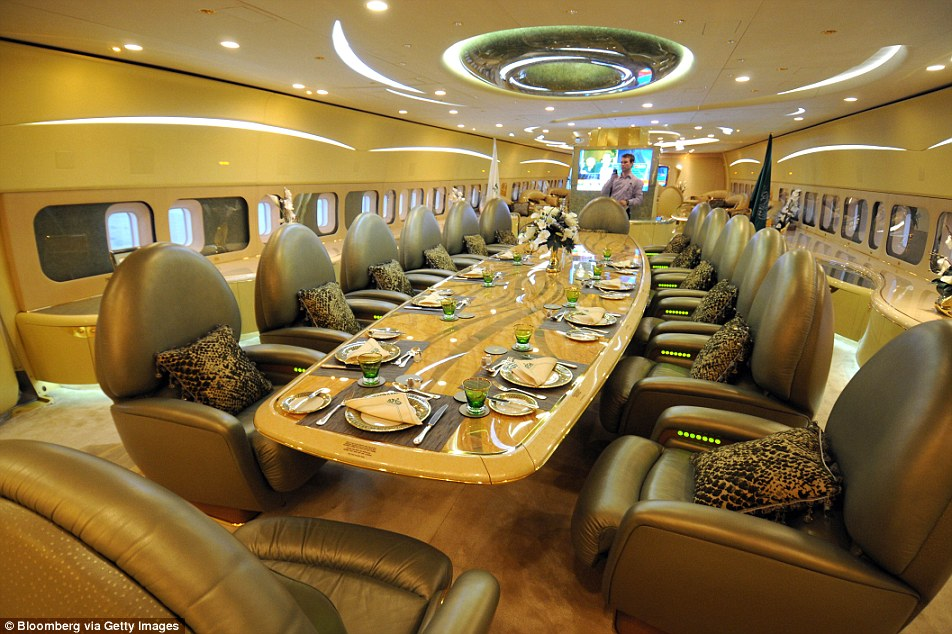 inside a luxurios jet