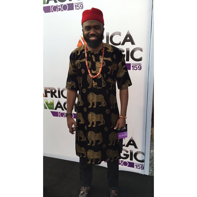 man in traditional igbo isiagu