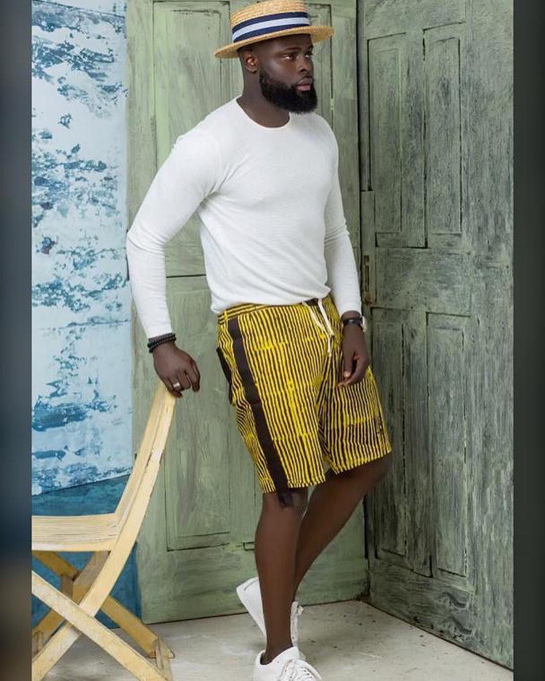 yomi casual in one of his designs